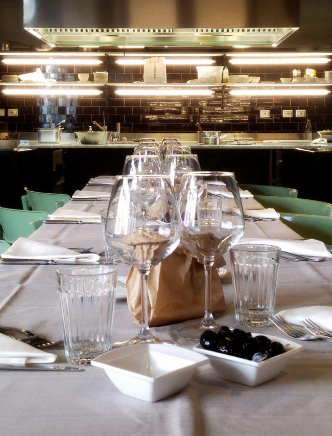 tavolo per cena aziendale